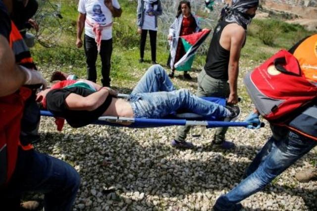 إصابة عشرات الفلسطينيين في مواجهات مع جيش الاحتلال شمال قطاع غزة 1