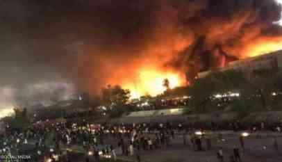 متظاهرون، البصرة، حرق ، إيران