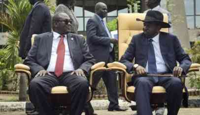 رئيس جنوب السودان سلفا كير ونائبه السابق رياك مشار - أرشيفية