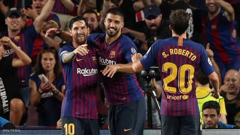 برشلونة يكتسح اسبانيول