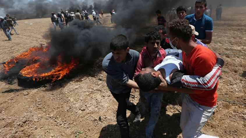 شهيدان أحدهما طفل وإصابة 11 برصاص الاحتلال بغزة