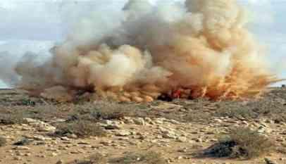 مقتل شخص وإصابة آخر في انفجار لغم بليبيا