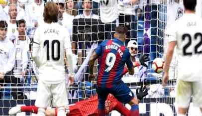 ريال مدريد يتلقى خسارة جديدة أمام ليفانتي بالليجا
