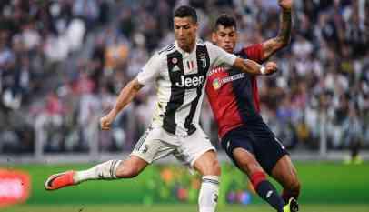 رونالدو يسجل في تعادل يوفنتوس مع جنوى في الدوري الإيطالي
