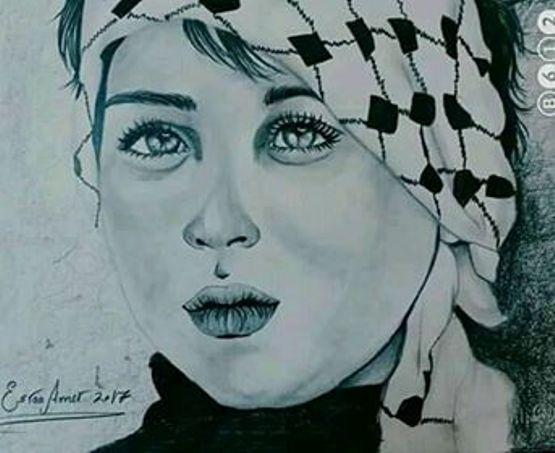 اسراء عامر .. تعكس هموم الوطن والمواطن من خلال لوحاتها المتميزه