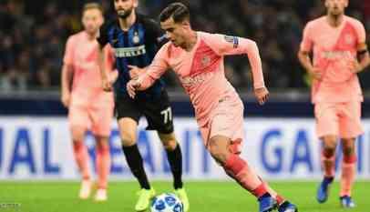 كوتينيو يغيب عن برشلونة لمدة 3 أسابيع