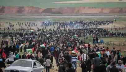 إصابة 40 فلسطينيا في قمع الإحتلال لمسيرات العودة