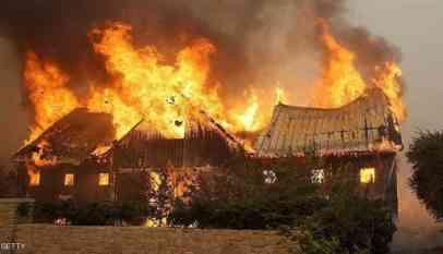 ارتفاع حصيلة ضحايا حرائق كاليفورنيا