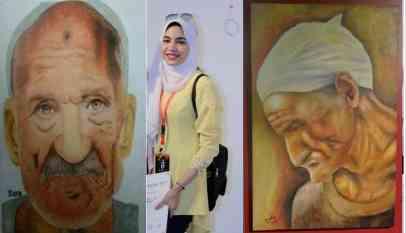 سارة نادى فنانة من طمى الأرض الطيبة