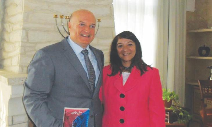 رقصة منى برنس الجديدة صورة مع سفير الكيان الصهيوني