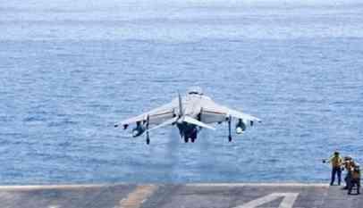 سقوط مقاتلة أمريكية في المحيط الهادئ
