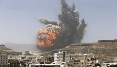التحالف يشن غارات على محافظة صعدة