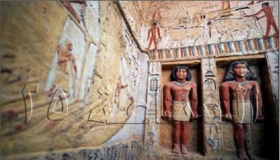 إكتشاف اثرى يعود للأسرة الخامسة قبل الميلاد يحتوى على 55 تمثالا