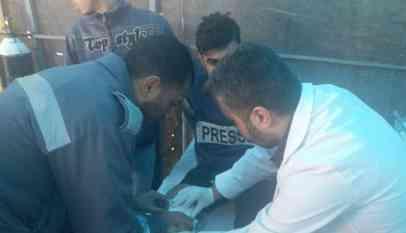 اصابة متظاهرين في جمعة فك الحصار