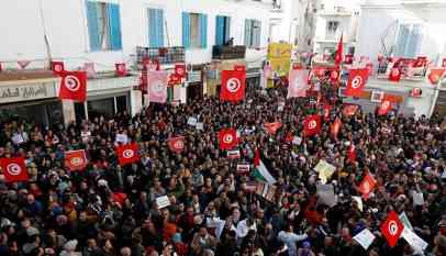 اضراب عام لأتحاد الشغل بتونس