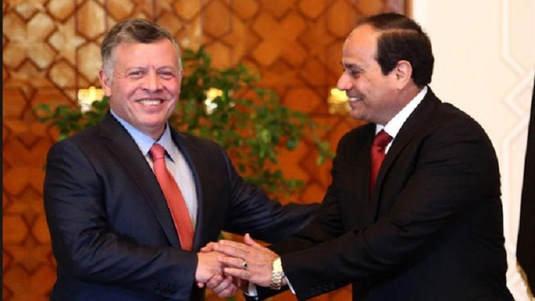 السيسي يجري مباحثات مع الملك عبد الله في الأردن