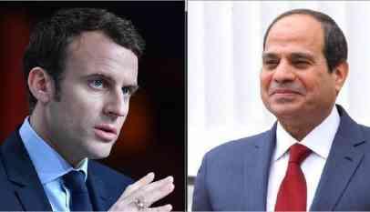 السيسي يلتقي ماكرون بالقاهرة نهاية يناير