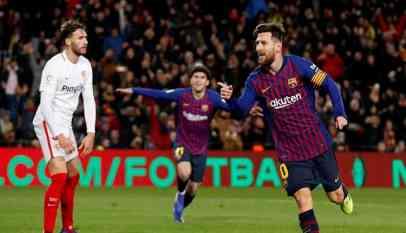 ليون يتعادل مع برشلونة في ذهاب ثمن نهائي دوري الأبطال