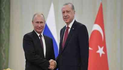 بوتين يبحث مع أردوغان تسوية الأوضاع في سوريا