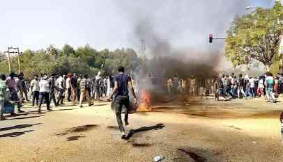 الأحتجاجات تعم المدن السودانية
