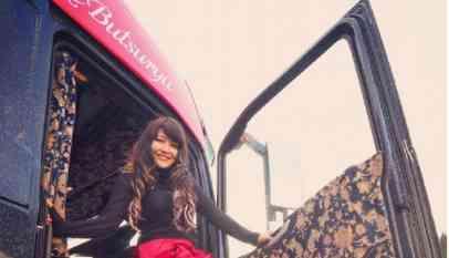 اصغر سائقة يابانية تقود شاحنة مسافات طويلة