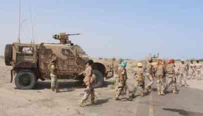قصف تجمعات للجيش اليمني