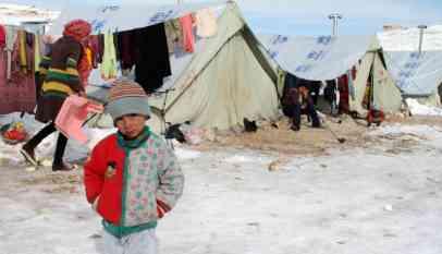 وفاة 15طفل ورضيع بسبب البرد القارس في سوريا