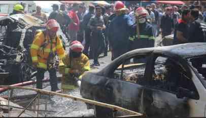 انفجار سيارة مفخخة في سوق شعبي