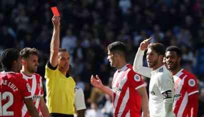 ريال مدريد يتلقى الهزيمة السابعة بالدوري بارضه امام جيرونا 2-1 2