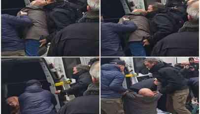 شرطي يتحرش بفتاة محجبة