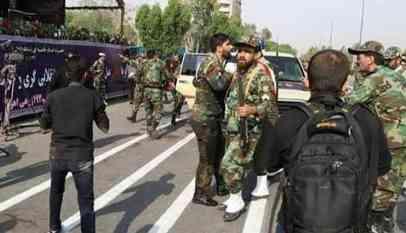 مصرع واصابة 40 شخصا اثر هجوم على الحرس الثوري بإيران
