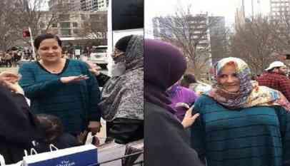 إشهار سيدة أمريكية إسلامها وتنطق الشهادتين في مدينة دالاس بأمريكا