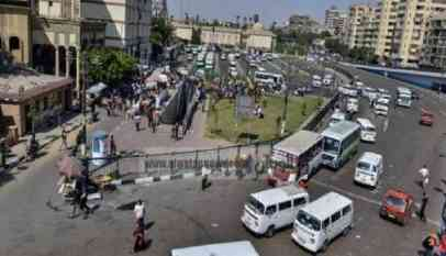 لحظة انفجار قنبلة بالقرب من ميدان الجيزة