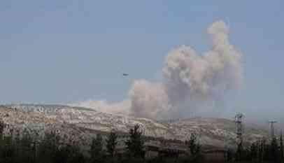 قصف روسي ونظامي على إدلب