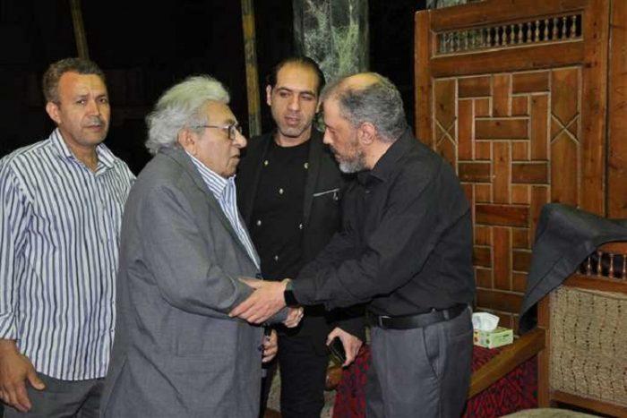 حضور بارز للفنانيين والاعلاميين فى عزاء الفنان محمد نجم في مسجد عمر مكرم