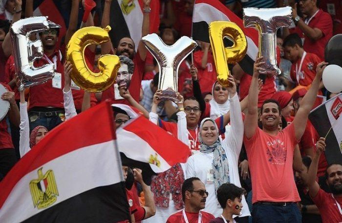 هتاف الجماهيرضد اسرائيل فى الدقيقة 73 مباراة مصر وجنوب إفريقيا