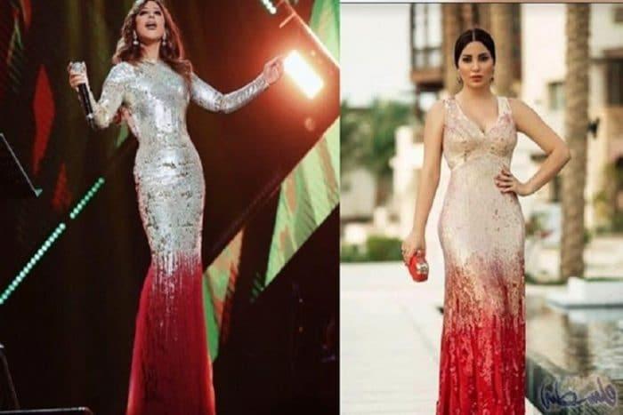 نسرين طافش تثير الجدل بسبب فستان مشابه مع فستان نجوى كرم