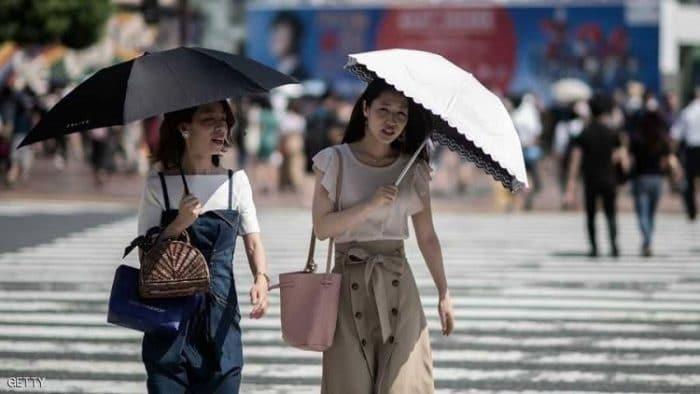 وفاة أكثر من 100 ياباني بسبب الحر الشديد