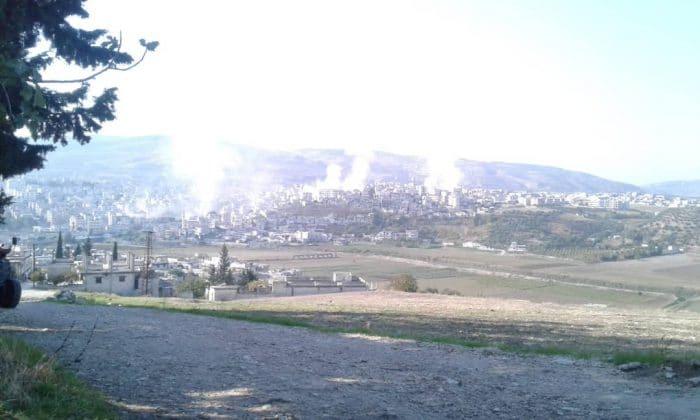 قصف على جسر الشغور والقرى المحيطة