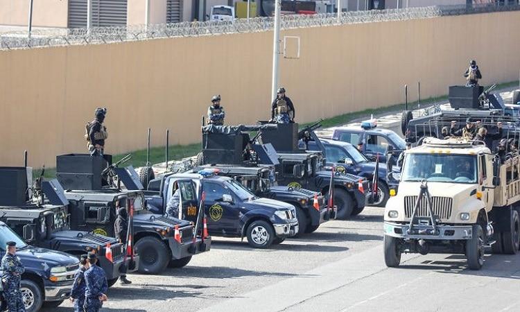 انسحاب المسلحين من محيط السفارة الأمريكية ببغداد