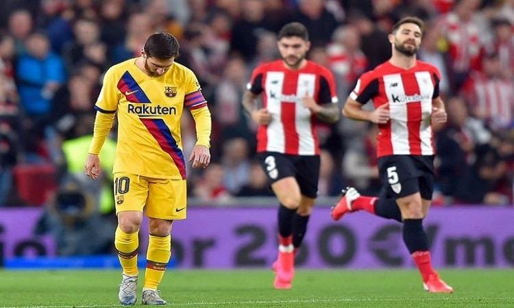 أتليتك بلباو يطيح ببرشلونة من كأس ملك إسبانيا