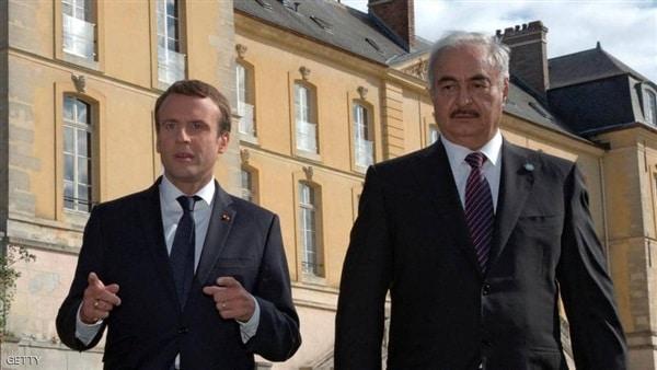 الرئيس الفرنسي يستقبل الجنرال المتمرد خليفة حفتر