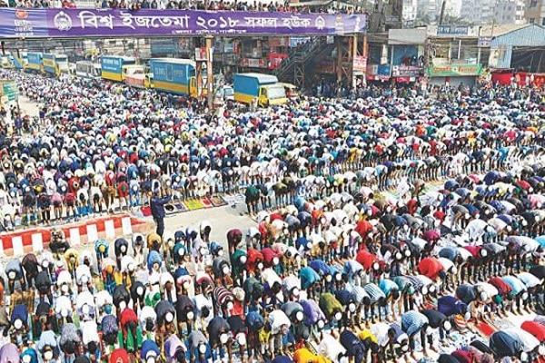 بنغلاديش تعلق صلاة الجماعة والجمع