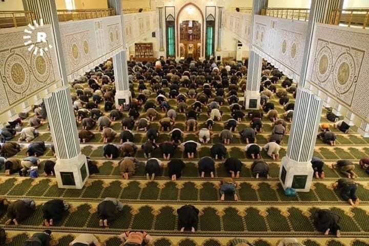 اول صلاة في مسجد السليمانية بإقليم كردستان