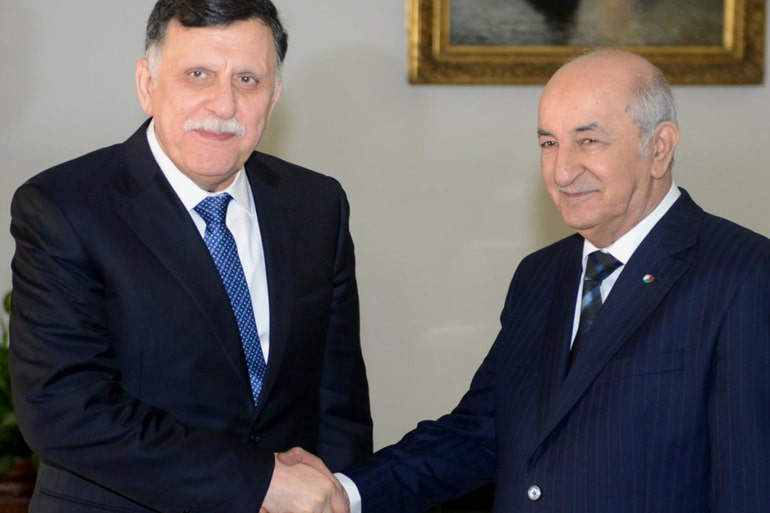 الرئيس الجزائري يجدد دعم حكومة الوفاق