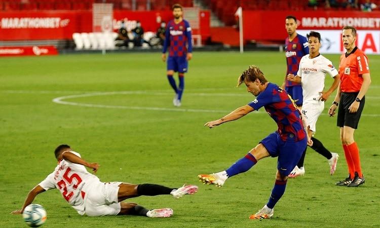 ترتيب الدوري الإسباني بعد تعادل برشلونة وإشبيلية.. صورة