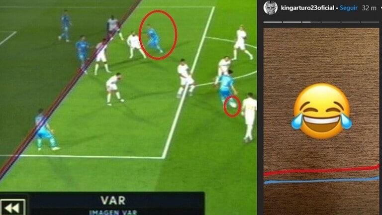 شاهد.. فيدال يسخر من إلغاء هدف فالنسيا في ريال مدريد