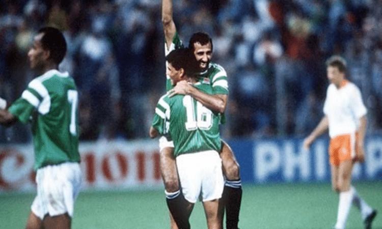 شاهد.. مجدي عبد الغني يحتفل بهدفه التاريخي في كأس العالم