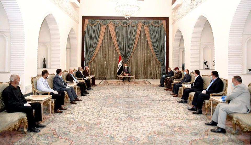 الرئيس العراقي يستقبل وفد الكرد الكاكائيين