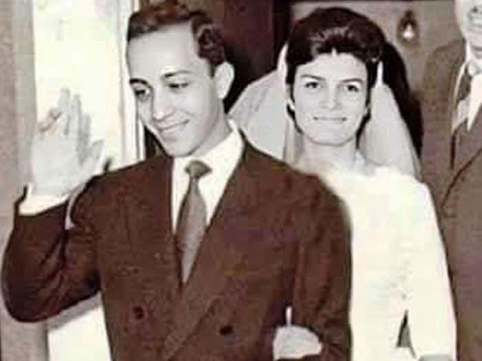 انعام سالوسة وسمير العصفورى عروسان يخطفان الانظار